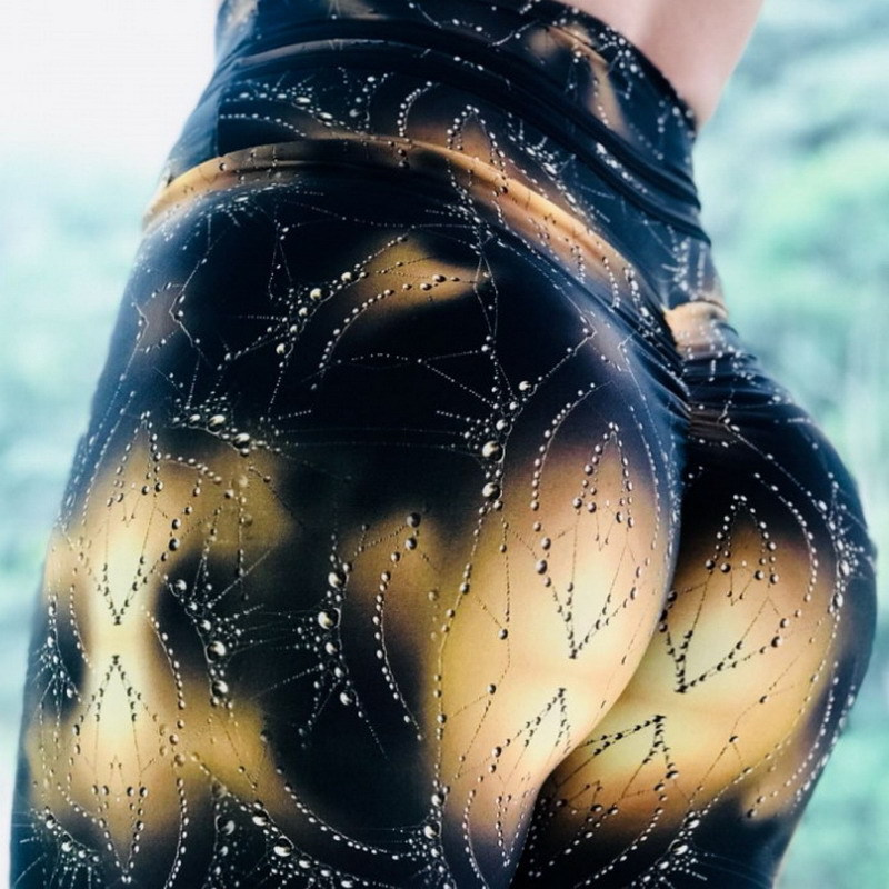 New Knitted Printed Leggings Women High Waist Trousers Female Fitness Pants Casual Wear Colorful 3D Print Push Up Women Leggings 1