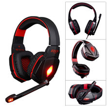 G4000 Pro Gaming Headset Headphones with Microphone LED Light Stereo Surround Headband Fone De Ouvido for Computer PC Gamer binmer futural digital g800 stereo surround gaming headset headband micheadphone high quality f25