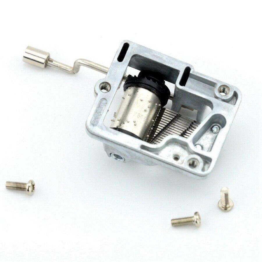 by dhl 100pcs practical New Retro DIY Mechanical Hand Crank Metal Music Box Hand Cranked Musical