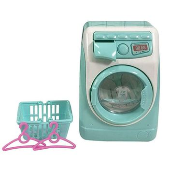 Free Shipping Mini Pretend Play Toy Simulation Washing Machine Toys Children Can Filling Water Kitchen Gift Doll furniture mini