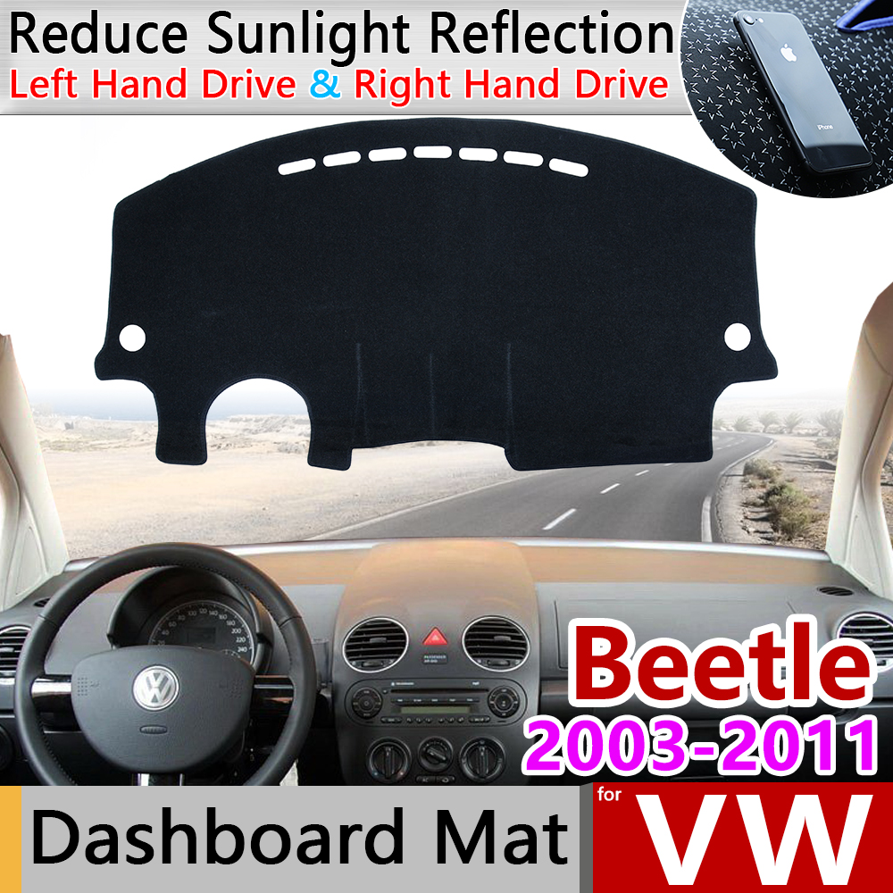 Para VW Volkswagen New Beetle 2003 ~ 2011 Besouro A5 Anti-Slip Mat Pad Cover Dashboard Pára Dashmat Tapete acessórios 2006 2008