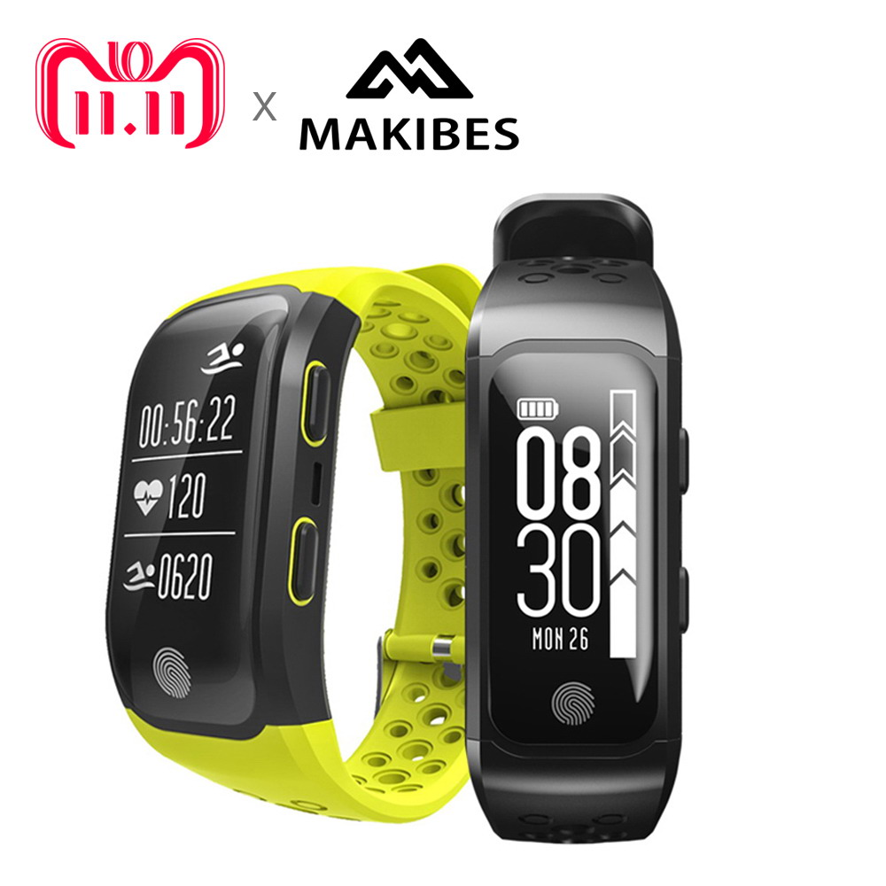 11.11 Makibes G03 men's Smart Bracelet IP68 Waterproof Smart Band Heart Rate Monitor Call Reminder GPS chip S908 Sports Bracelet makibes dm58 smart bracelet blood pressure heart rate monitor ip68 waterproof call reminder activity tracker smart band
