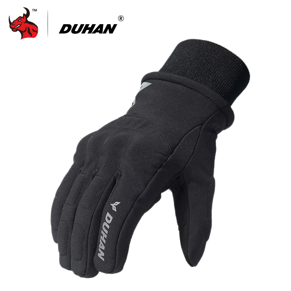 DUHAN Motorcycle Gloves Men Touch Screen Moto Glvoes Autumn Winter Waterproof Cold-proof Warm Riding Gloves Moto Guantes