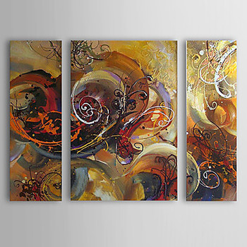 3 piece Hand Painted Modern Abstract Oil Painting Canvas Wall Art Paintings Picture Canvas Paintings for Bedrooms
