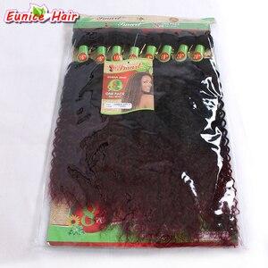 Ombre 16-20 дюймов 8 шт./лот, длинные волнистые волосы без обработки, пучки волос, Ombre, бордовые, бразильские, с завитками, черные, женские прически