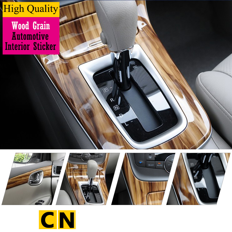 car styling wood grain carbon fiber fiber automotive interior stickers for volkswagen. Black Bedroom Furniture Sets. Home Design Ideas