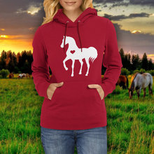Heart horse hoodie / valentine equestrian clothing gifts clothingZ208