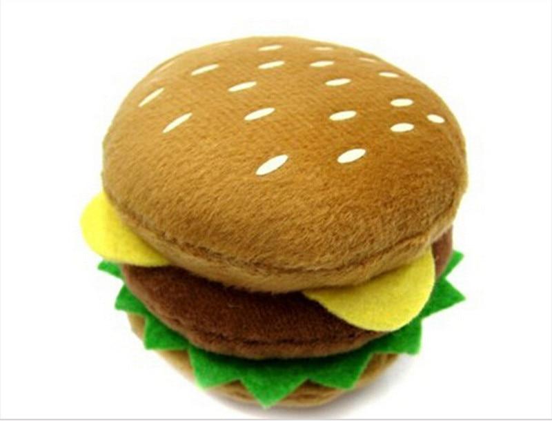 Jouet pour chien Mignon Haut de gamme En Peluche Jouets Hamburger Forme Conception Monochrome Usine Directe GP-160316-7