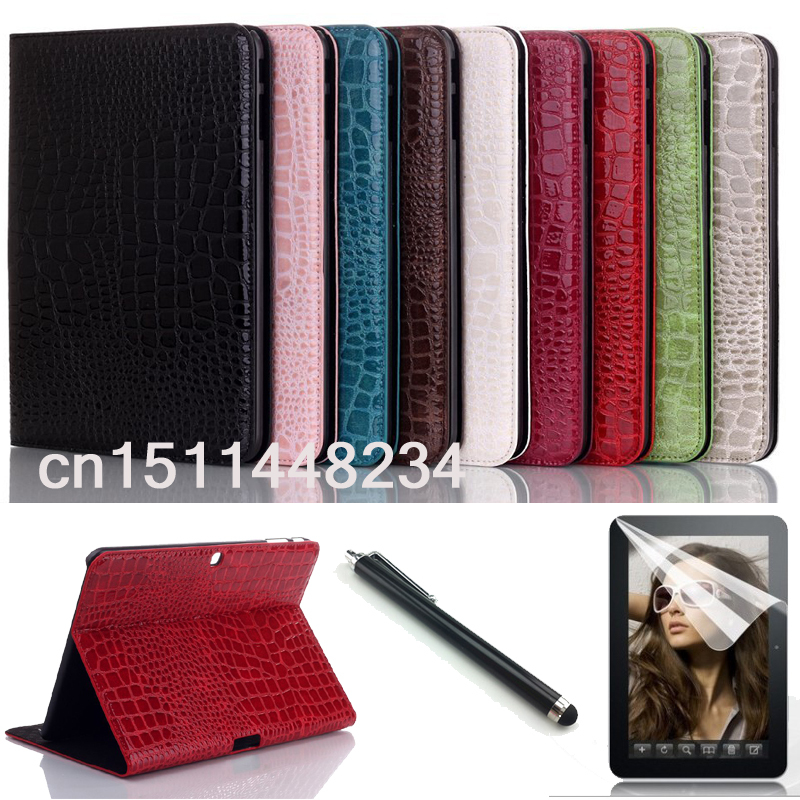 luxury crocodile leather case for samsung galaxy Tab 4 10.1 T530 T531 T535 Smart case cover for samsung Tab4 10.1 case+pen+Film butterfly flip pu leather for samsung galaxy tab 4 10 1 t530 case for samsung galaxy tab 4 t530 t531 t535 smart case cover