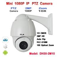 En iyi Fiyat Full HD 1080 P IP Kamera PTZ CCTV 10X 5.1mm-51mm otomatik Zoom ve Odak Açık Su Geçirmez ONVIF Güvenlik KAM 360 Rotasyon
