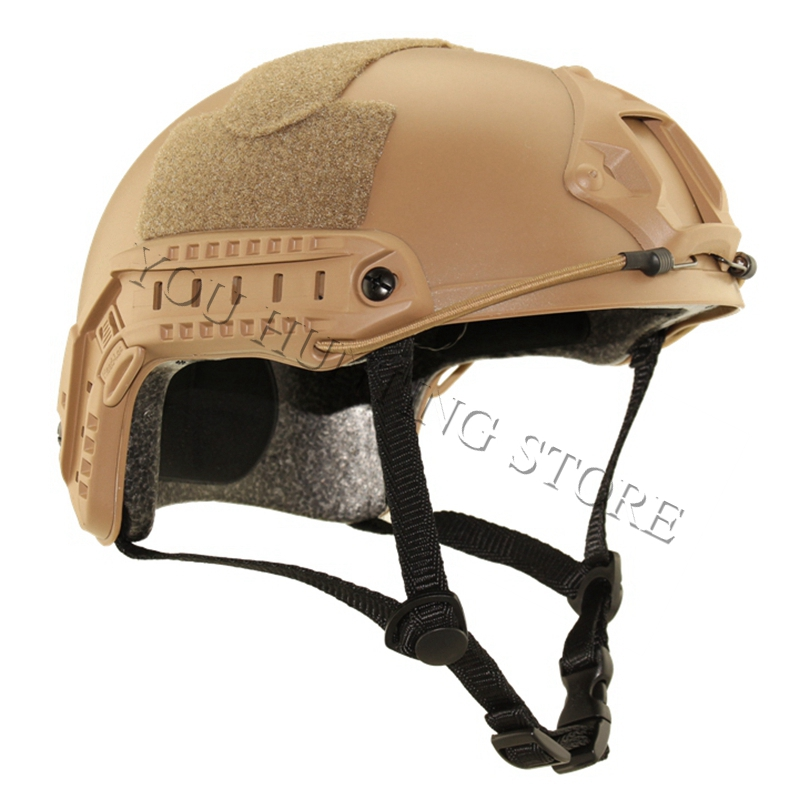 2017 New Arrive Durable Military Tactical Airsoft simple Type Fast Helmet cycling Sports protective Safety helmet