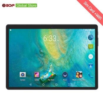 2019 russe moscou entrepôt navires 10.1 pouces 3g Mobile Sim carte téléphone appel Android 7.0 tablette Pc 4 GB + 64 GB Octa Core tablettes Pc