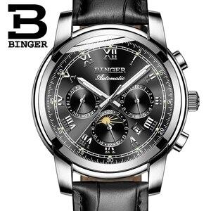Image 4 - שוויץ אוטומטי מכאני שעון גברים Binger יוקרה מותג Mens שעונים ספיר שעון עמיד למים relogio masculino B1178 12