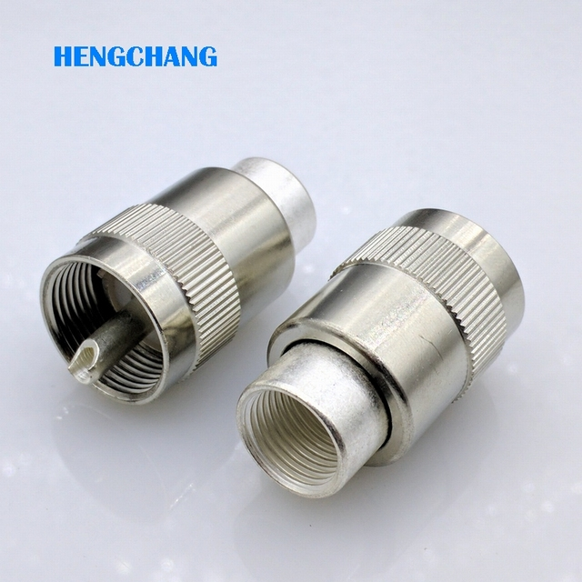 UHF PL259 male plug solder for RG8 LMR400 RG213 RG165 RG393 Coaxial cable 50 7 SL16 connector