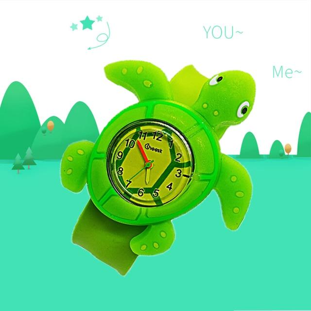 Cartoon Millennium Turtle Child Watch For kids girl boy student Wristwatches Fas