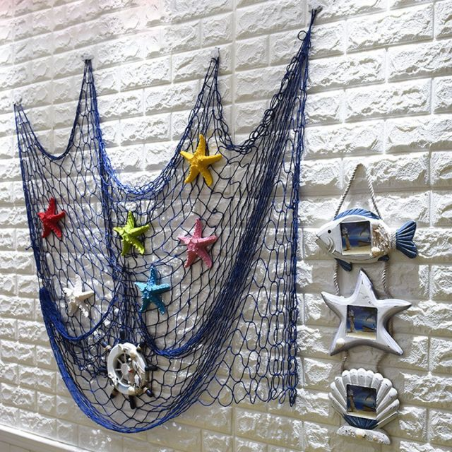 Nautical Seaside Beach Decorative Sea Ocean Theme Fish Net Home Wall Party Decor Hanging