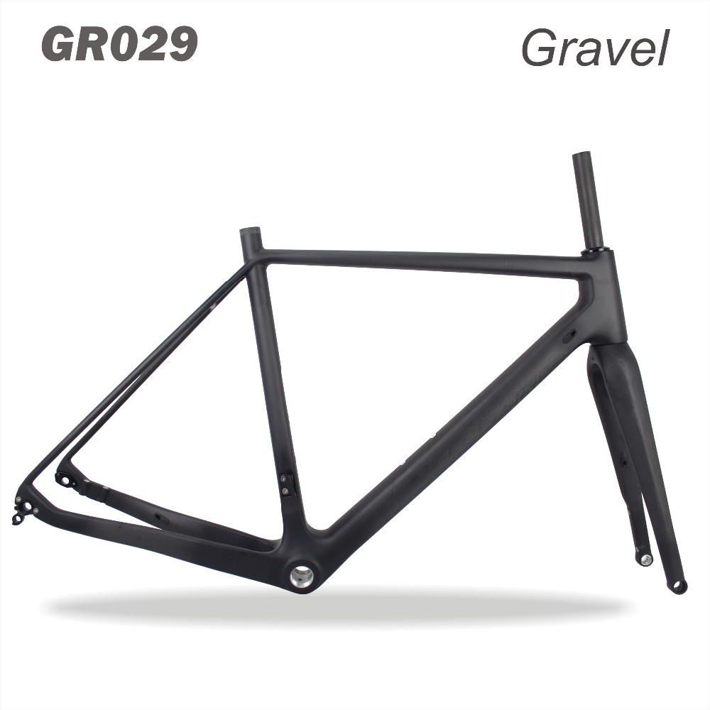 2018 miracle bikes Thru Axle 142mm Available 700*40C bicicleta Carbon Bike Frame,Gravel Di2 Carbon Cyclocross Frame Disc