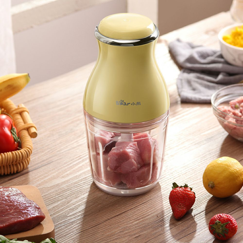 Bear Mini Electric Meat Grinders 1pc Cup Baby Food Feeding 200W Multifunctional Food Mixer Meat Chopper Machine Vitek Xiaomi Mi bear 220 v hand held electric blender multifunctional household grinding meat mincing juicer machine
