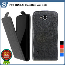 Top quality new style flip PU leather case open up and down for IRULU U4 MINI 4G LTE ,gift(China (Mainland))