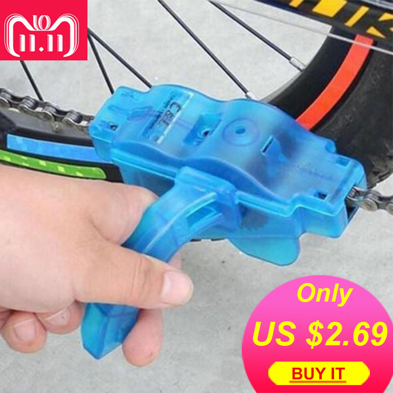 Portable Bicycle Chain Cleaner Bike Clean Machine Scrubber Wash Tool Mountain Road Bike Cycling Cleaning Kit 50ml mtb cycling bicycle chain special lube lubricat oil cleaner repair grease bike lubrication