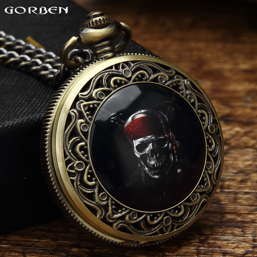 Vintage Jack Captain Fans Pocket Watch Classic Movie Pirates of the Caribbean Theme Pocket Watch To Men Women Halloween Gift Set new stainless steel manual push self turning stirrer egg beater whisk mixer kitchen wholesale price