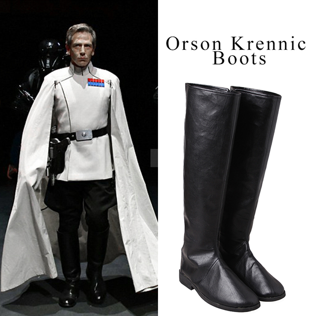 orson krennic cosplay shoes rogue one a star wars story boots adult men movie shoes halloween - Story Of Halloween Movie