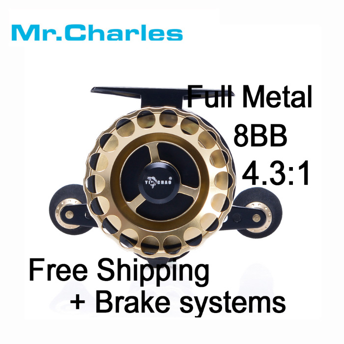 Mr.Charles New KKD65 Gear ratio 3.6:1 Aluminum Front-end Fishing Left/Right Hand Fly Fishing Reel Raft Ice Fishing Reel