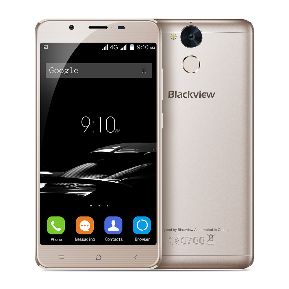 "Blackview P2 6000mAh OTG 4G Fingerprint 5.5"" FHD 1080*1920 Smartphone Android 6.0 MTK6750T Octa Core 4GB+64GB 13MP Mobile Phone"