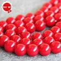 Ожерелье и Браслет 14 мм Темно-Красный жемчуг Оболочки Seashell DIY подарок для женщин свободные шарики изготовление Ювелирных Изделий дизайн 15 inch Оптовая