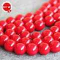 Necklace&Bracelet 14mm Dark Red Shell pearl beads Seashell DIY gift for women loose beads Jewelry making design 15inch Wholesale