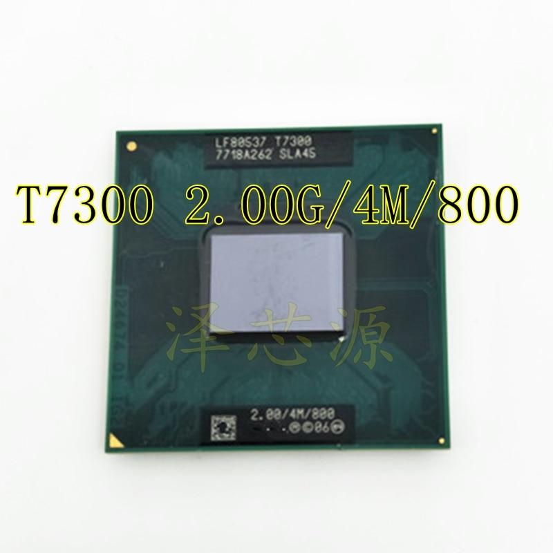 T7300 CPU 4M Socket 479 Cache/2.0GHz/800/Dual-Core Processor Support 965
