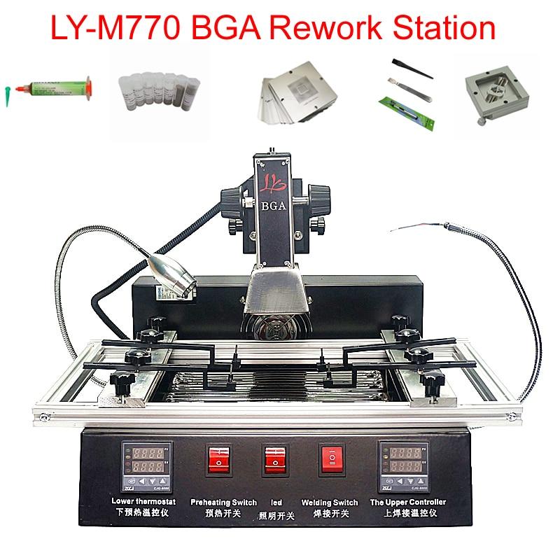 LY-M770 BGA Rework Station 2 Zones Manual Operation 1900W Bga Reballing Station Free Tax To RU