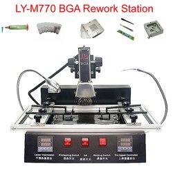 LY-M770 паяльная станция BGA 2 зоны ручная работа 1900 Вт bga реболлинг станция Бесплатный налог на RU