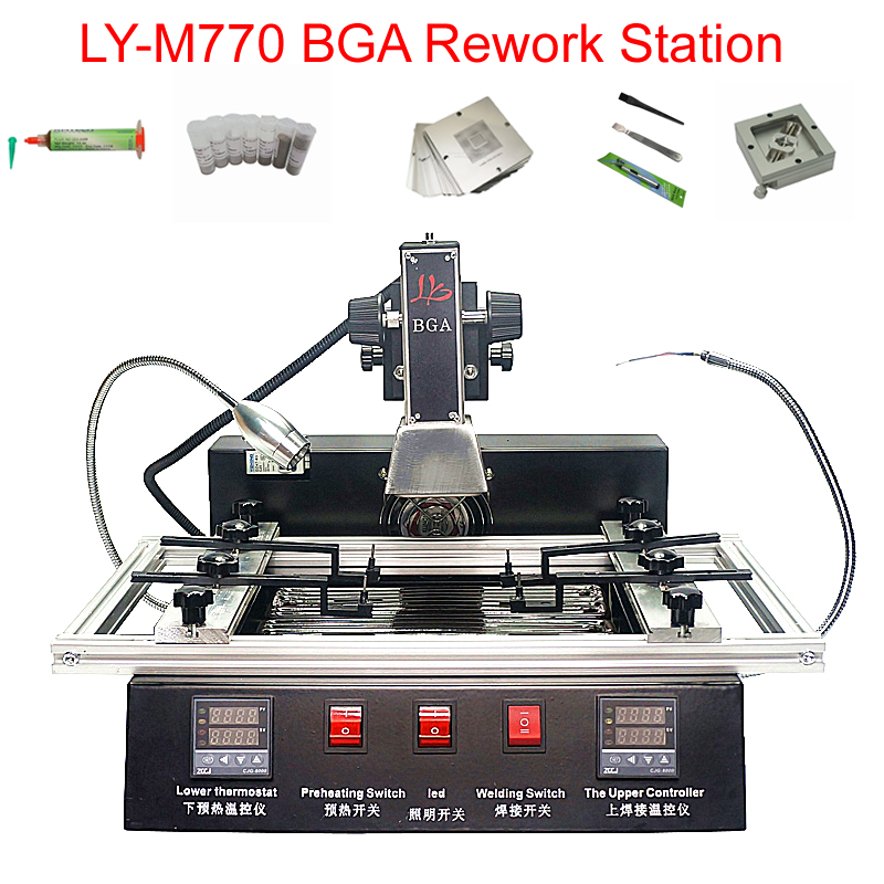 LY-M770 BGA Rework Station 2 Zones Manual Operation 1900W Bga Reballing Station Free Tax To RU