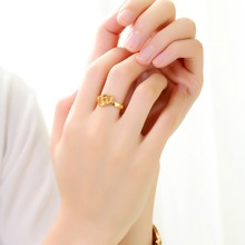 OLOEY 2019 Simple New Copper Rings Hot Women Jewelry Accessories WomenS Love Heart Opening Gold Color Finger Ring Fashion Gifts