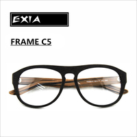 Myopia Sunglasses Frame Acetate Material Imitate Wooden Grain RX Ophthalmic Lenses Available EXIA OPTICAL KD 39