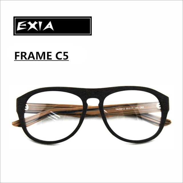 606ed3f553d Myopia Sunglasses Frame Acetate Material Imitate Wooden Grain RX Ophthalmic  Lenses Available EXIA OPTICAL KD-39 Series