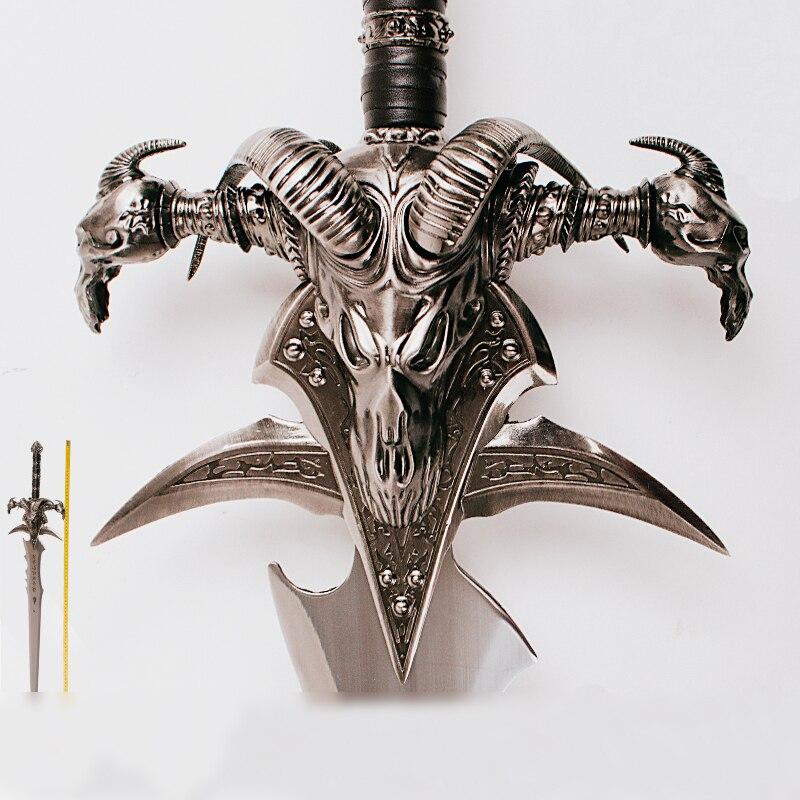 WOW Arthas Menethil épée Deuillegivre Alliage coulée cool Artisanat Être un cadeau Adulte jouets 108 cm/120 cm 2.5 kg/5 kg décor à la maison