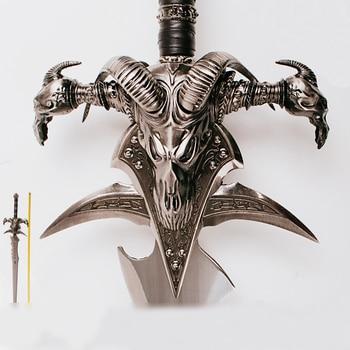 WOW Arthas Menethil épée Frostmourne Alliage Coulée Cool Artisanat être Un Cadeau Jouets Pour Adultes 108 Cm/120 Cm 2.5 Kg/5 Kg Décor à La Maison