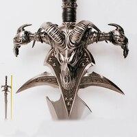 WOW Arthas Menethil sword Frostmourne หล่อโลหะผสม cool Craft Be ของขวัญผู้ใหญ่ของเล่น 108 ซม./120 ซม. 2.5 กก./5 กก. home decor