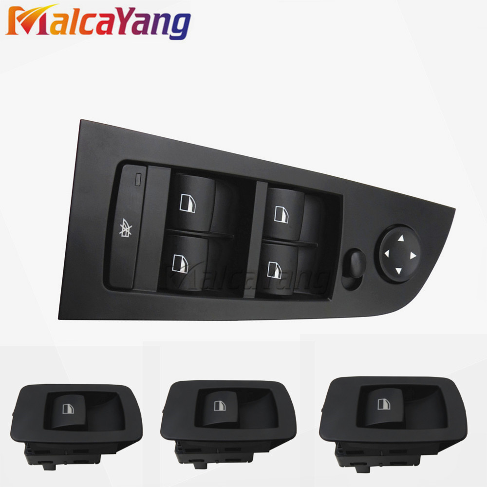 Full set of Black Passenger Side Front WIndow Lifter Button Switch 61316945874 61319217329 For BMW E90,E91,323i,325i,328i free shipping for kia sportage door window switch with side mirror switch window lifter switch