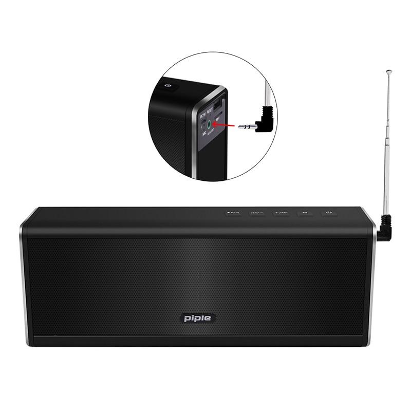 Caixa Sem Fio HIFI Stereo Super Bass portátil Caixa de Som HandFree para 20 W 4000 mah banco Do poder Do Telefone Rádio FM s5 bluetooth speaker