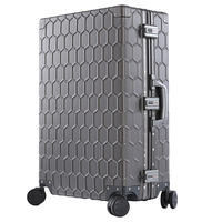 SEABIRD High quality 202629inch 100% Aluminum Magnesium Alloy Trolley Suitcase spinner luggage Large Metal Travel Rolling Bag
