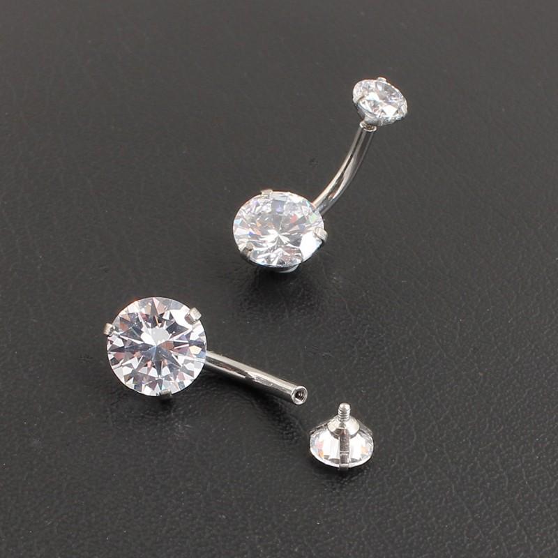 HTB1TD.sOFXXXXabXXXXq6xXFXXXr Pretty Zircon Jewel Prong Style Belly Button Ring - 2 Colors