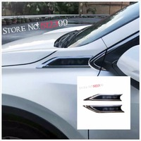 2 Black Car Front Side Wing Fender Emblem Badge Cover Trim For Honda CRV CR V