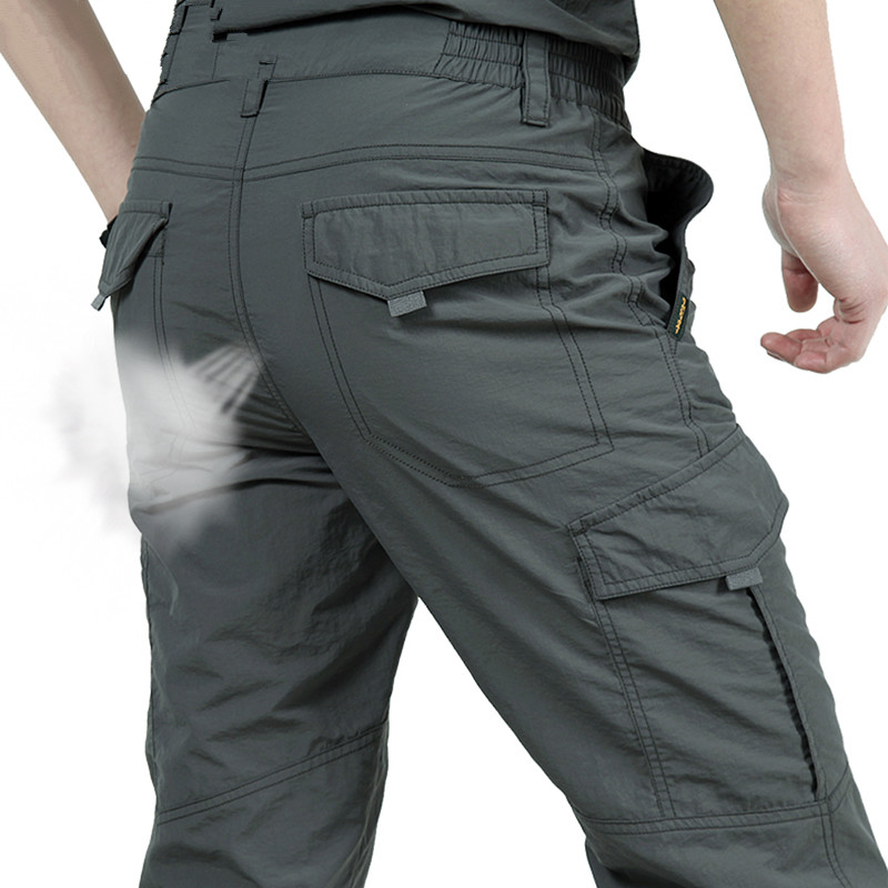 Breathable lightweight Waterproof Quick Dry Casual Pants Men Summer Army Military Style Trousers Men's Tactical Cargo Pants Male(China)