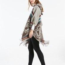 Czhcqq женский шарф бохо кимоно кардиган Длинная блузка топы свободного покроя Верхняя одежда негабаритных одеяло пончо накидка шаль Роскошная Туника Пашмина