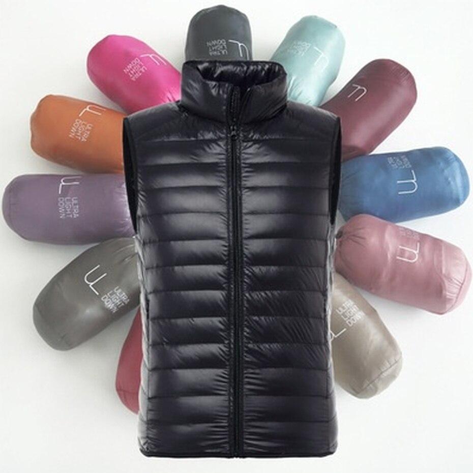 ZOGAA Brand Vest Men Winter Duck Down Ultra Light Duck Down Vest Loose Waistcoat Vest Sleeveless Jacket XS-3XL