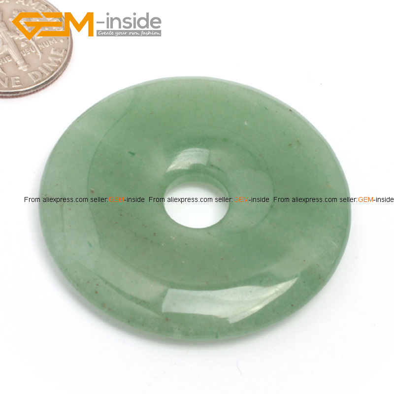 Gem-inside Natural Ring Circle Donuts Circle Stone Beads 1pc Selectable Material Beads For Jewelry Making DIY Jewellery 40mm