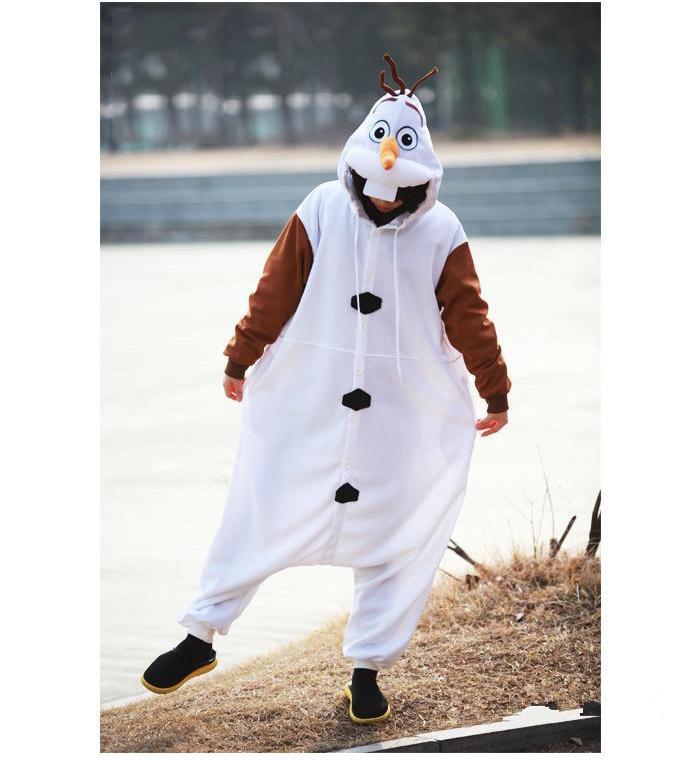 Olaf Cosplay kostiumas suaugusiųjų Oniesie pižama, pagaminta iš - Karnavaliniai kostiumai - Nuotrauka 3
